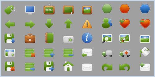 Иконки для интернет магазина в зеленом цвете