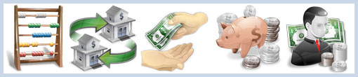 Иконки по тематике бухгалтерского учета и финансов