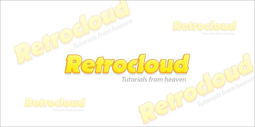 Создаем текст в силе ретро в программе Photoshop