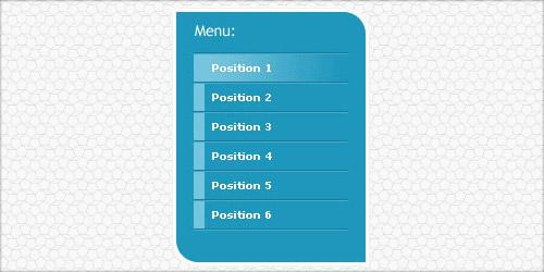 Красивое вертикальное меню для сайта