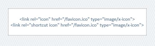 Подключение Favicon