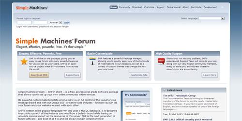 Движок для форума SMF