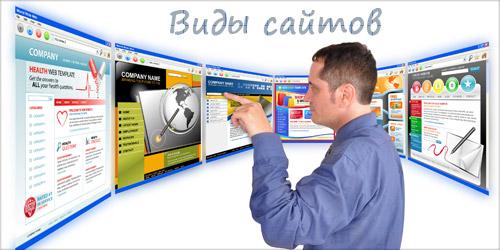 Виды и типы сайтов - узнайте какой сайт необходим под ваши потребности