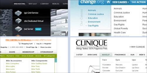 Дизайн выпадающих меню для сайта - 38 примеров