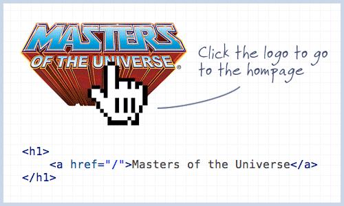 Логотип сайта, который не имеет ссылки на главную страницу