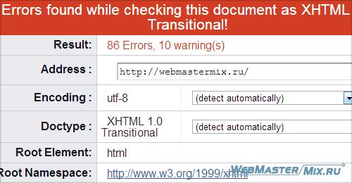 Валидность HTML